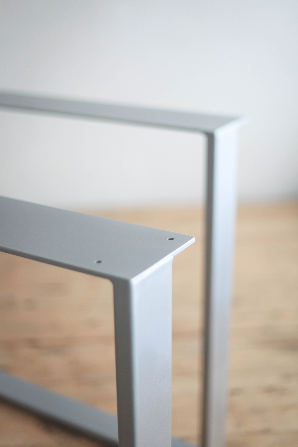 Metal Covered Tables : Powder coated steel u shape table legs factor fabrication