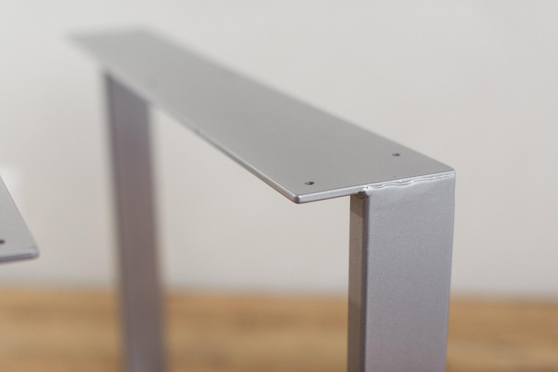 Beautiful ... U Shape Silver Powdercoat Steel Dining Table Legs  ...