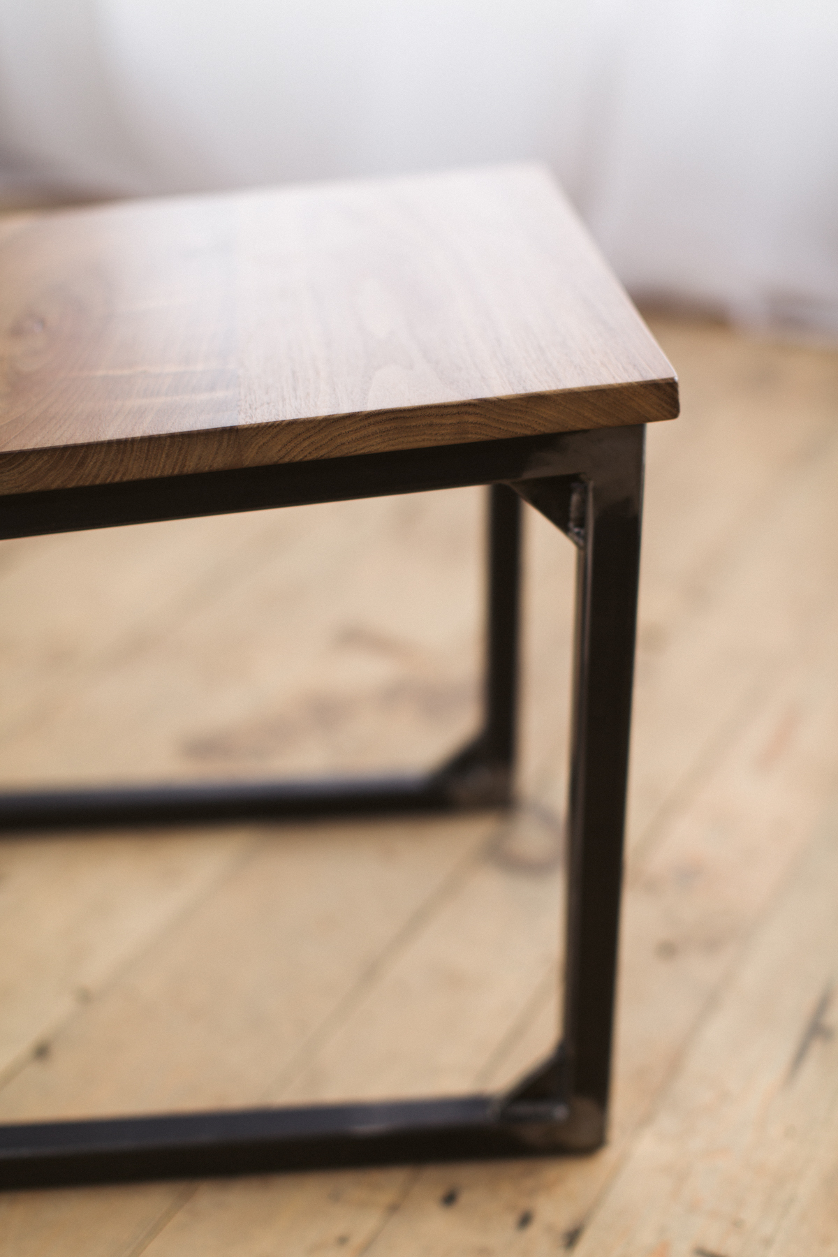 Walnut and Steel SchoolHouse Chair Factor Fabrication