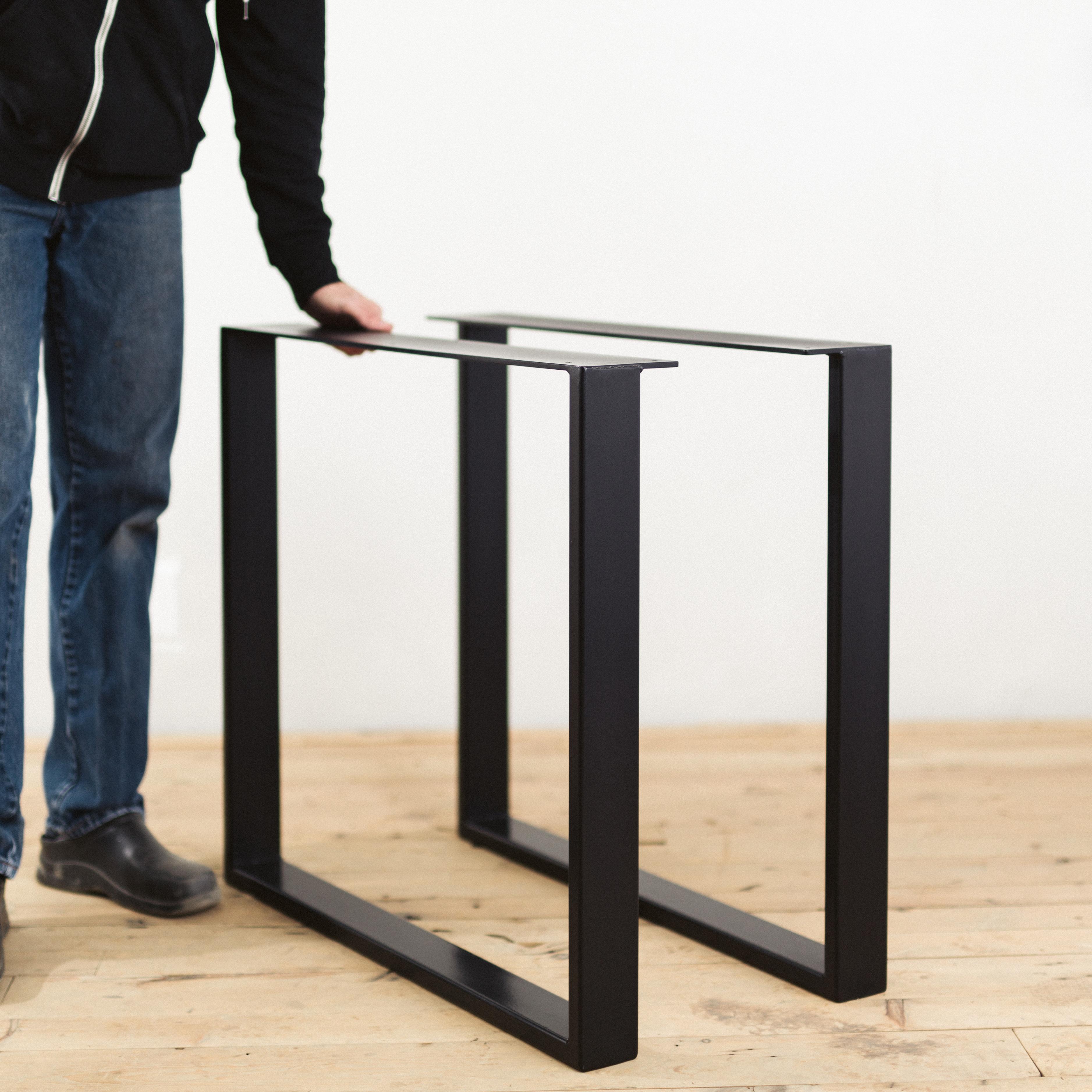 Powder-Coated Steel U-Shape Table Legs - Factor Fabrication
