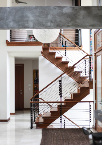 Custom Residential Wood And Steel Railing And Staircases   Factor  Fabrication