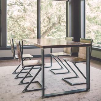 industrial-modern-raw-steel-walnut-wood-dinning-table
