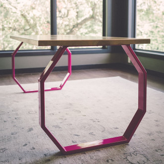 industrial-modern-wood-steel-table-octagon-maple
