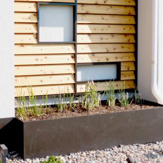 steel planters wood siding paneling exterior urbandale iowa