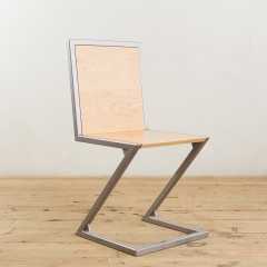 Maple and Powder-Coated Steel Z-Chair