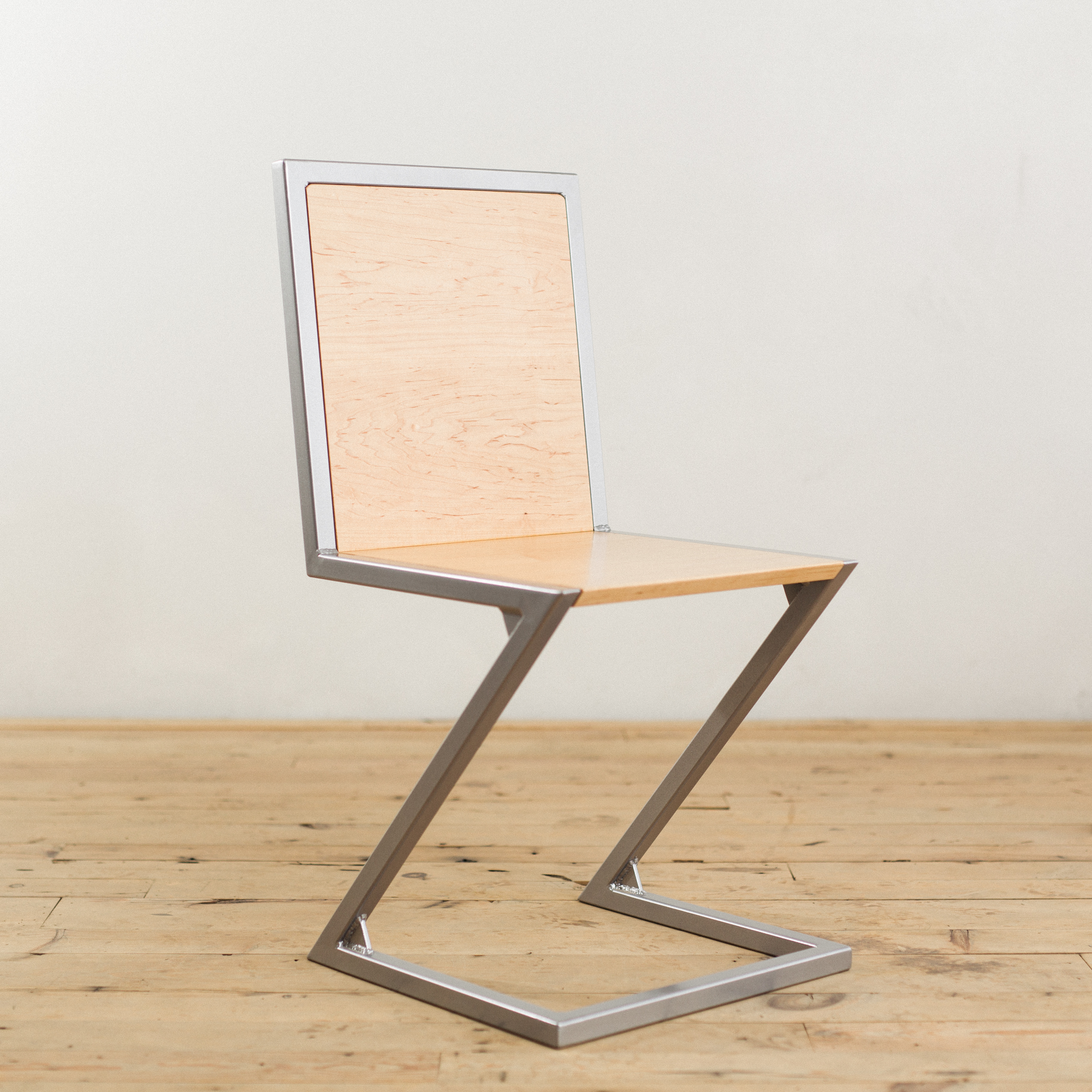 Exceptionnel Maple And Powder Coated Steel Z Chair