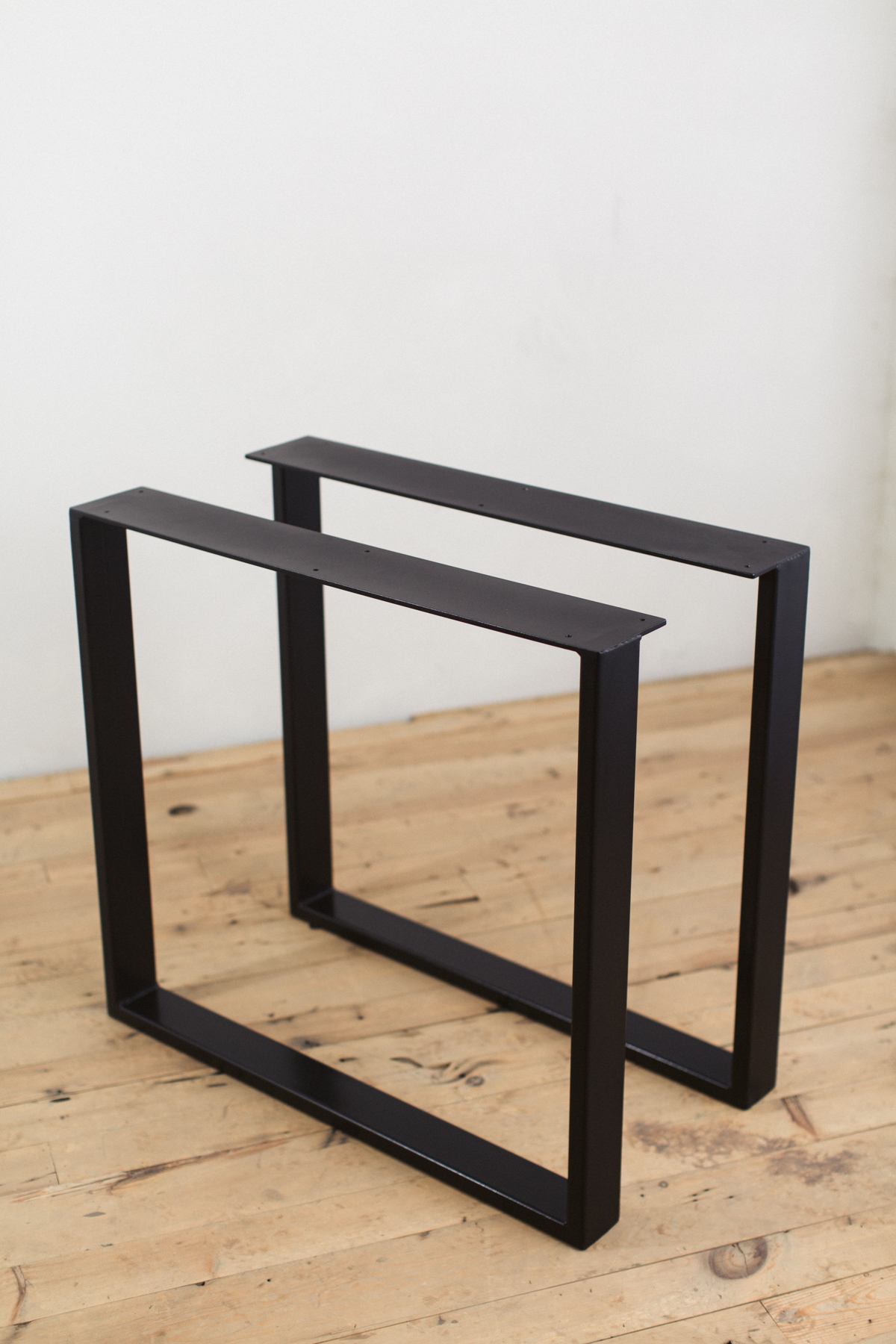 powder coated steel u shape table legs factor fabrication ForWhat To Use For Table Legs