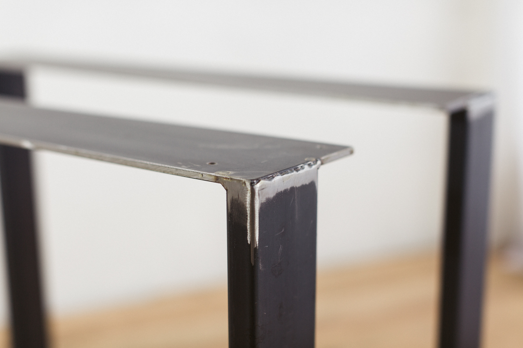 U Shape Raw Steel Dining Table Legs Modern Diy Top Plate