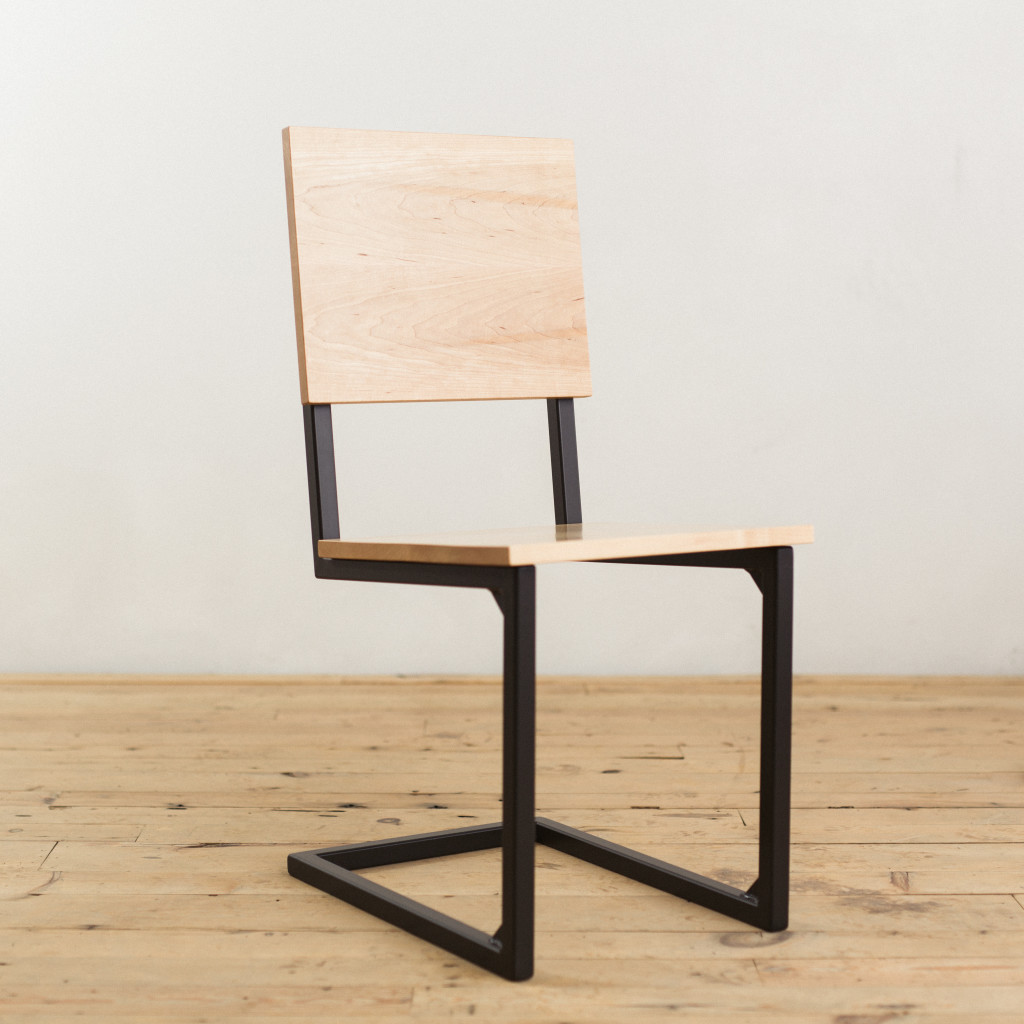 Maple And Steel School House Chair Factor Fabrication