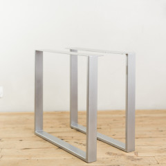 Powder-Coated Steel U-Shape Table Legs