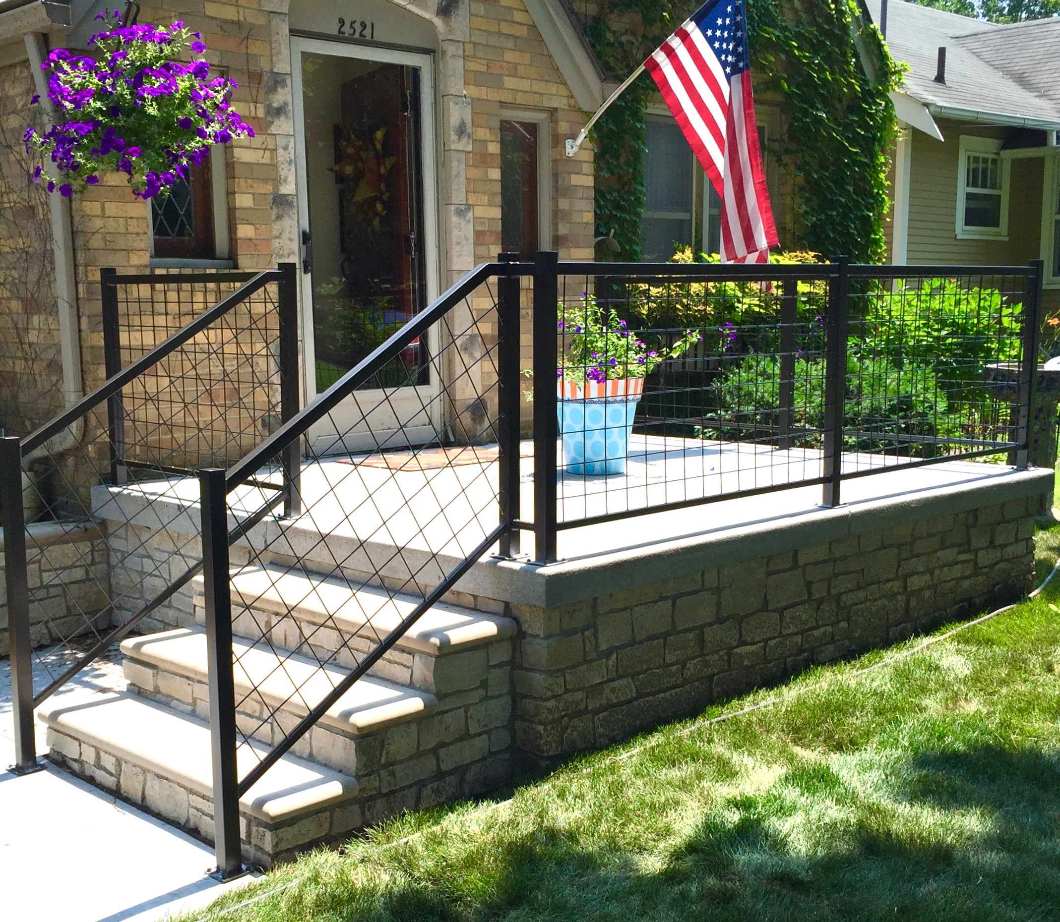 Image Result For Wire Mesh Deck Railing Systems